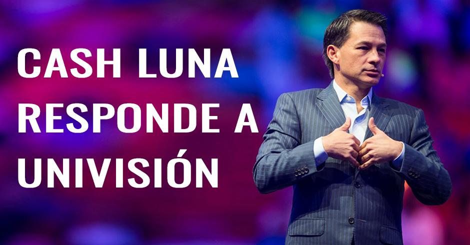 Cash Luna responde a univision